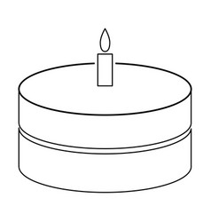 cake with candle the black color icon vector image