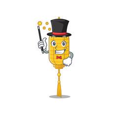 Cartoon character design lamp hanging magician vector