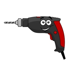 Cartoon power drill tool vector image