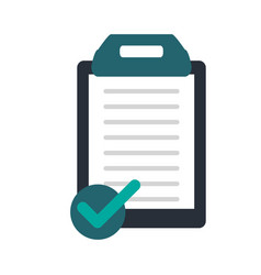 Clipboard with paper and check icon image vector