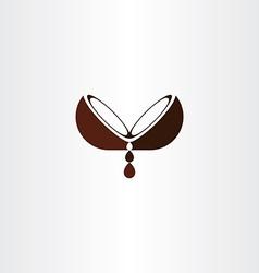 coconut oil logo icon design vector image