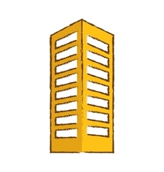 color building line sticker image vector image