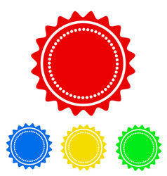 colorful round badge icon for your design stock vector image