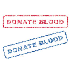 Donate blood textile stamps vector
