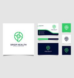 drop health logo design vector image