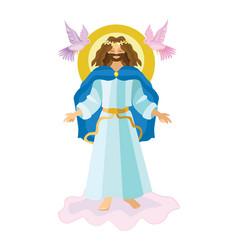 easter resurrection religious background - risen vector image
