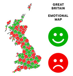 Emotion great britain map composition of vector