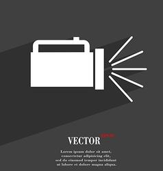 Flashlight icon symbol flat modern web design with vector