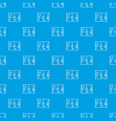 football strategy pattern seamless blue vector image