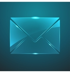 glass mail icon Eps10 vector image