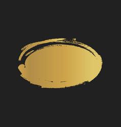 golden grunge vintage painted ellipse shapes vector image