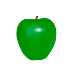green apple in on white background vector image