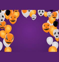 halloween background with halloween ghost vector image