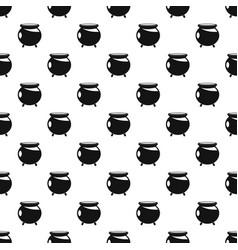 Halloween cauldron pattern seamless vector