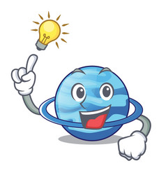 Have an idea plenet uranus above the sky cartoon vector