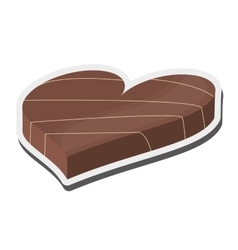 Heart shaped decorated candy chocolate icon vector