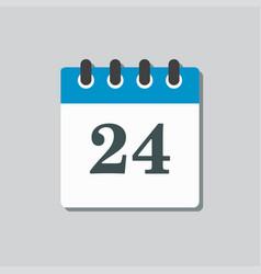Icon calendar page day template calendar date 24 vector