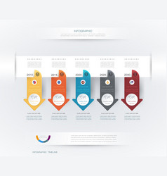 infographics timeline design vector image