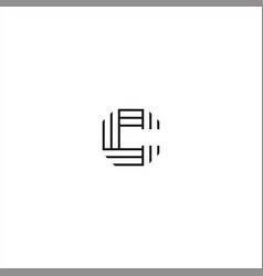 initial c logo template design vector image