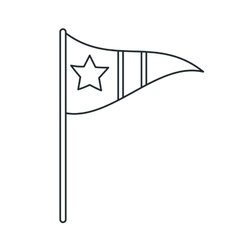 Isolated flag with star design vector image