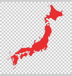 japan map on isolated background vector image vector image