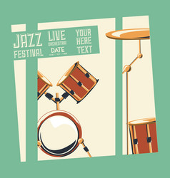Jazz festival design vector