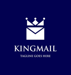 king mail logo vector image