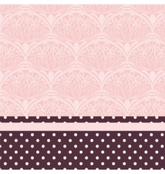 Lace ornament pattern vector image
