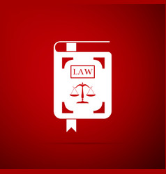 law book statute book with scales of justice icon vector image