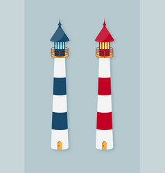 lighthouse set vector image