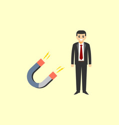 magneting business man symbol logo vector image