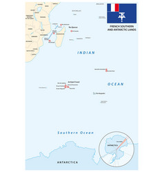 map french southern and antarctic territories vector image