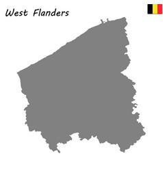 Map province of belgium vector