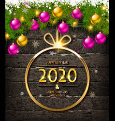merry christmas and happy new year sale banner vector image