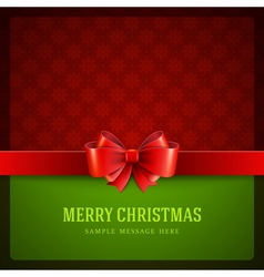 Merry Christmas card ornament decoration vector image