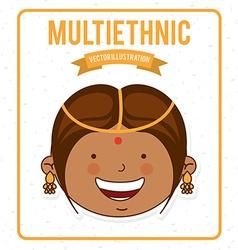 multiethnic design vector image