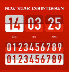 New year countdown timer vector