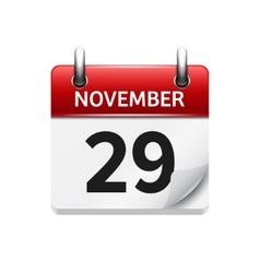 November 29 flat daily calendar icon vector