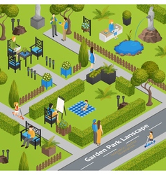 Of Garden Park Landscape vector