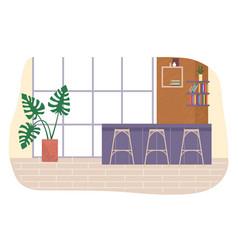 office break place interior design rest zone in vector image