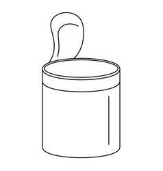 Open food can icon outline style vector