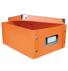 Orange storage box vector image