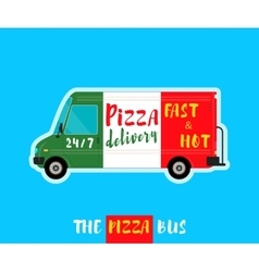 Pizza bus delivery vector image
