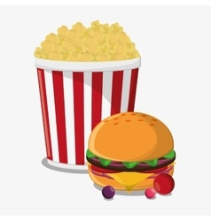 Pop corn fast and carnival food design vector