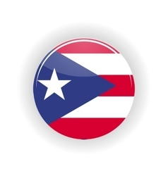 Puerto Rico icon circle vector image