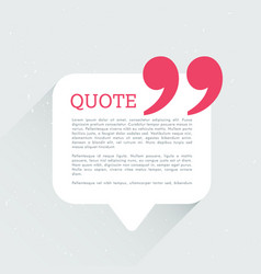 Quotation chat bubble with shadow vector