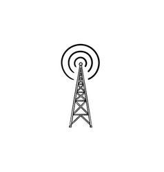 radio tower hand drawn outline doodle icon vector image