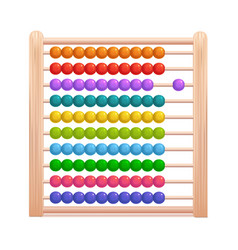realistic 3d detailed color wooden abacus vector image
