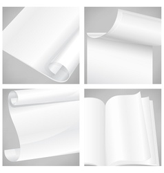 Set of white sheet papers vector