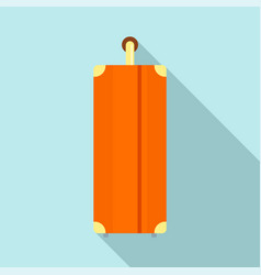side of travel bag icon flat style vector image